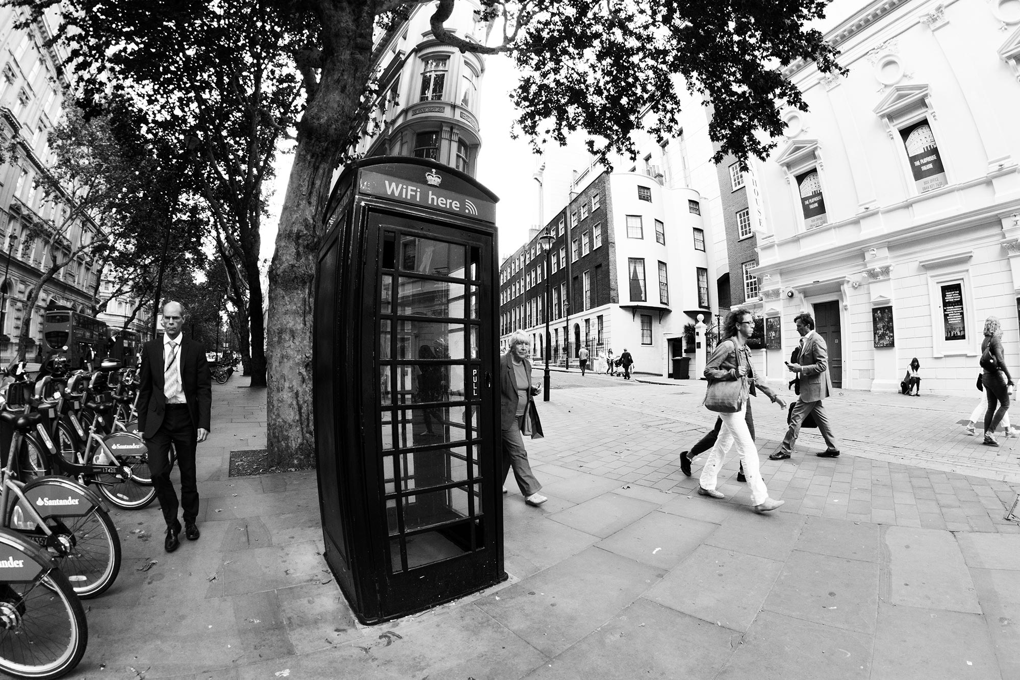 Modern classic: a London phone booth with WiFi