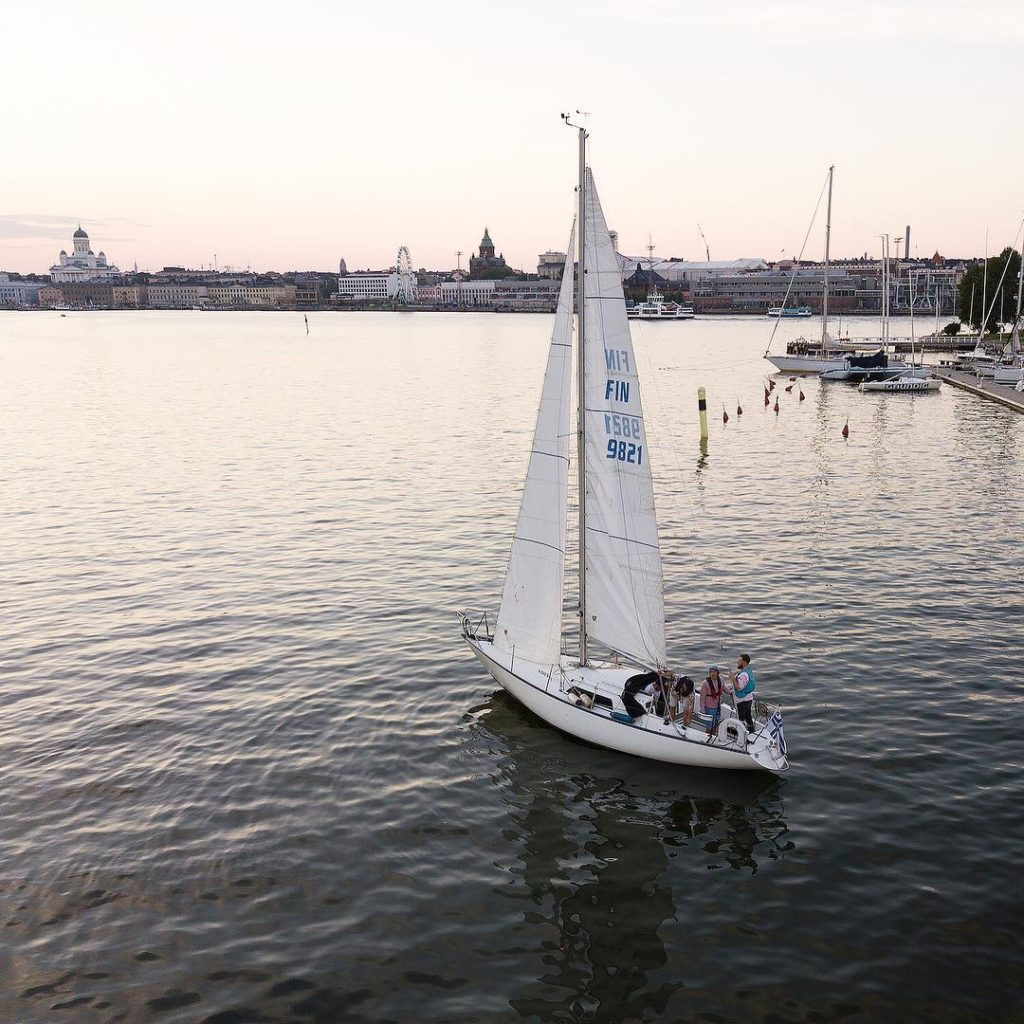 Sailboat in Helsinki South Harbor