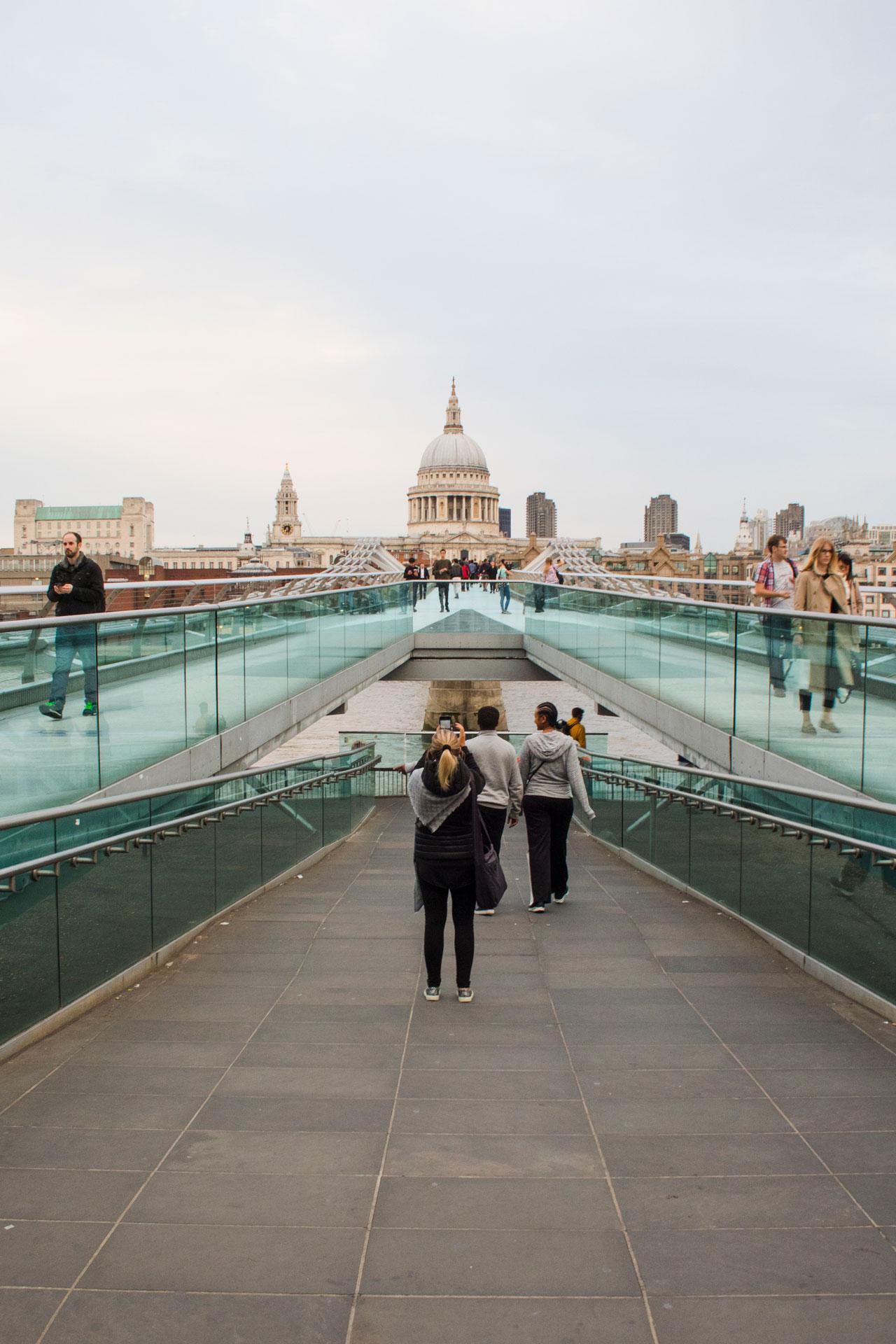 The Millennium Bridge in London
