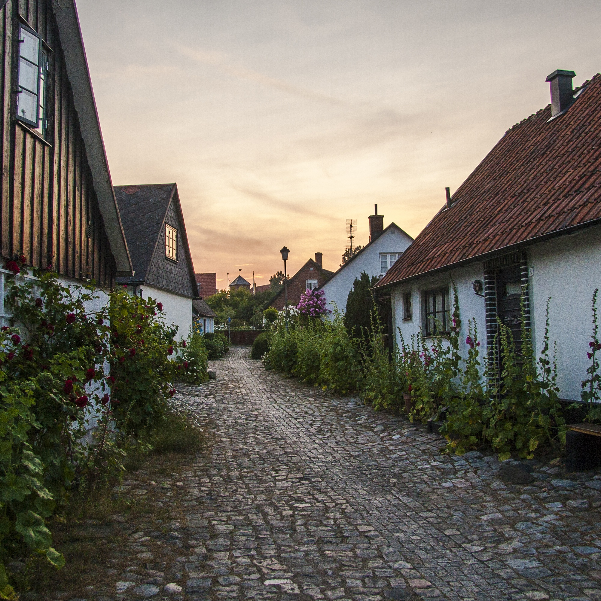 Town of Skillinge in Skåne, southern Sweden