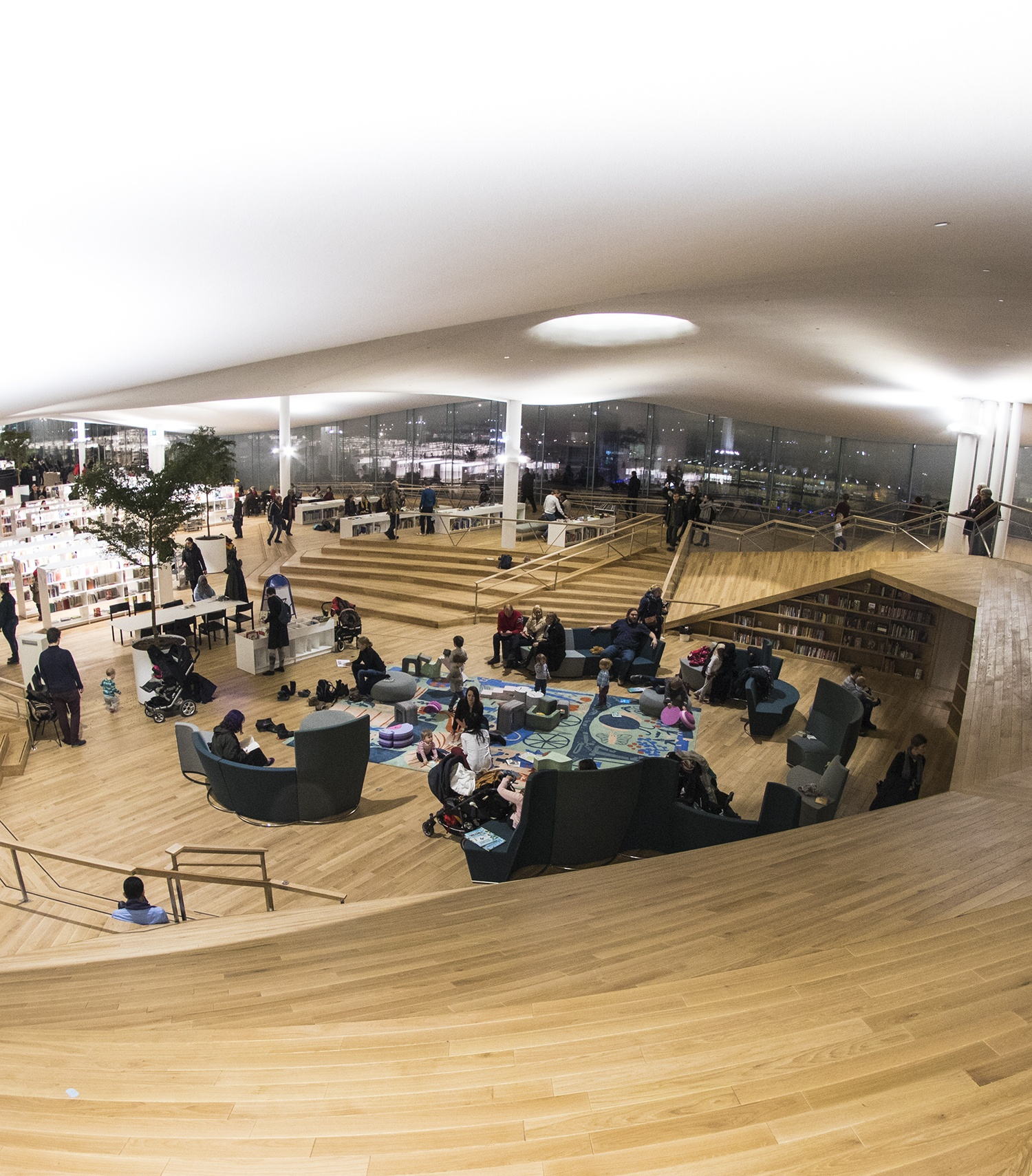 Interior of Oodi, the new public library in Helsinki