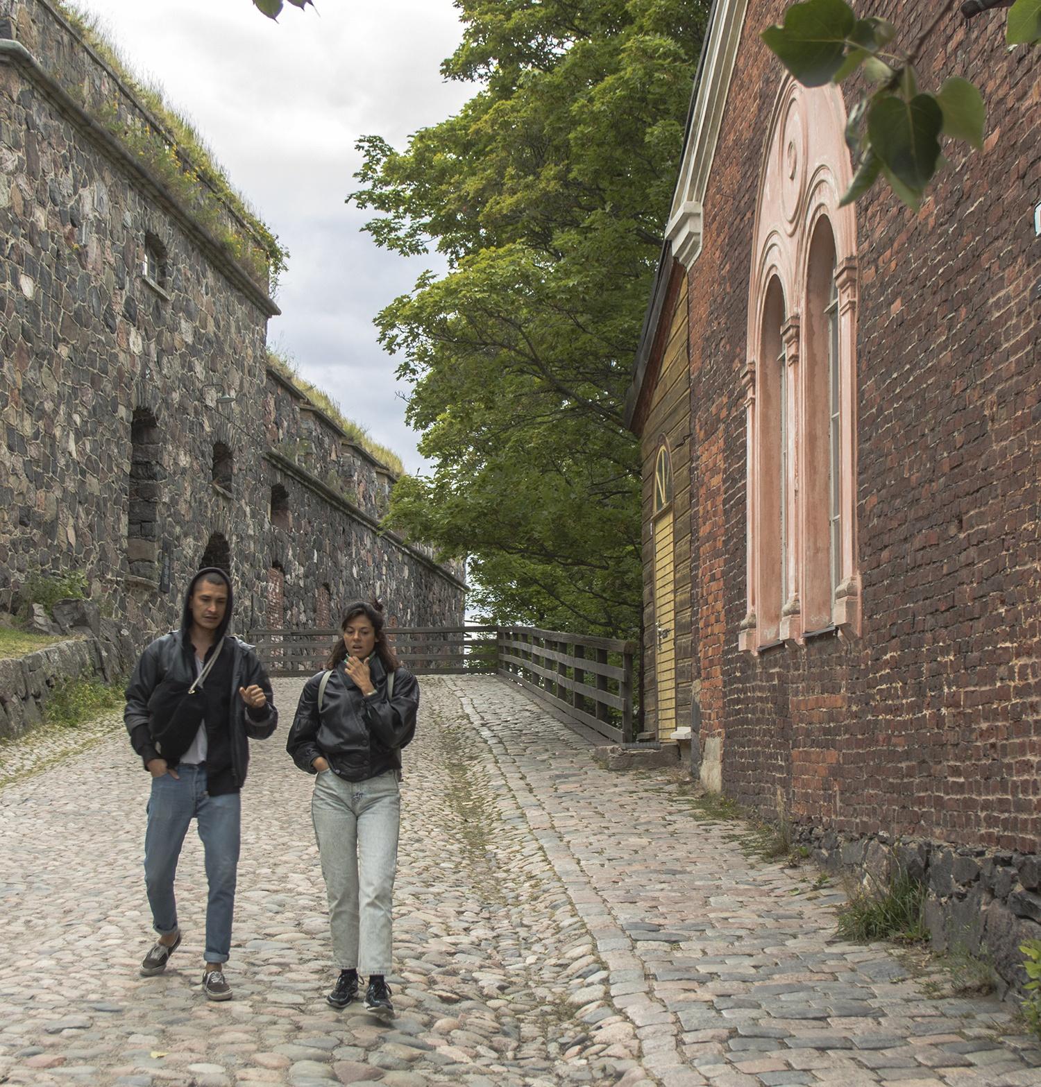 People in Suomenlinna Sea Fortress