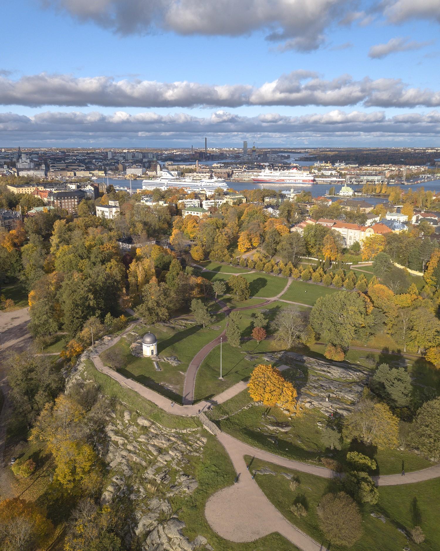 Kaivopuisto park in Helsinki